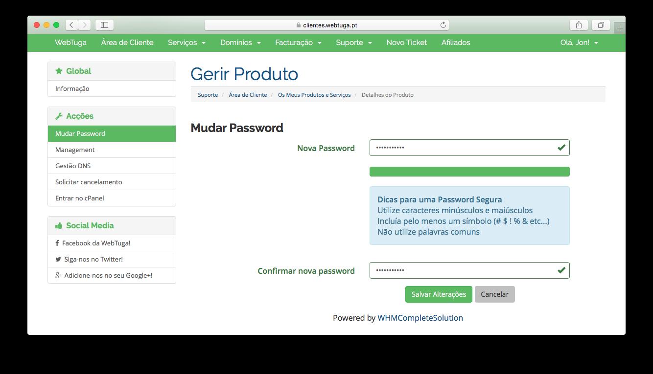 Get cPanel Password
