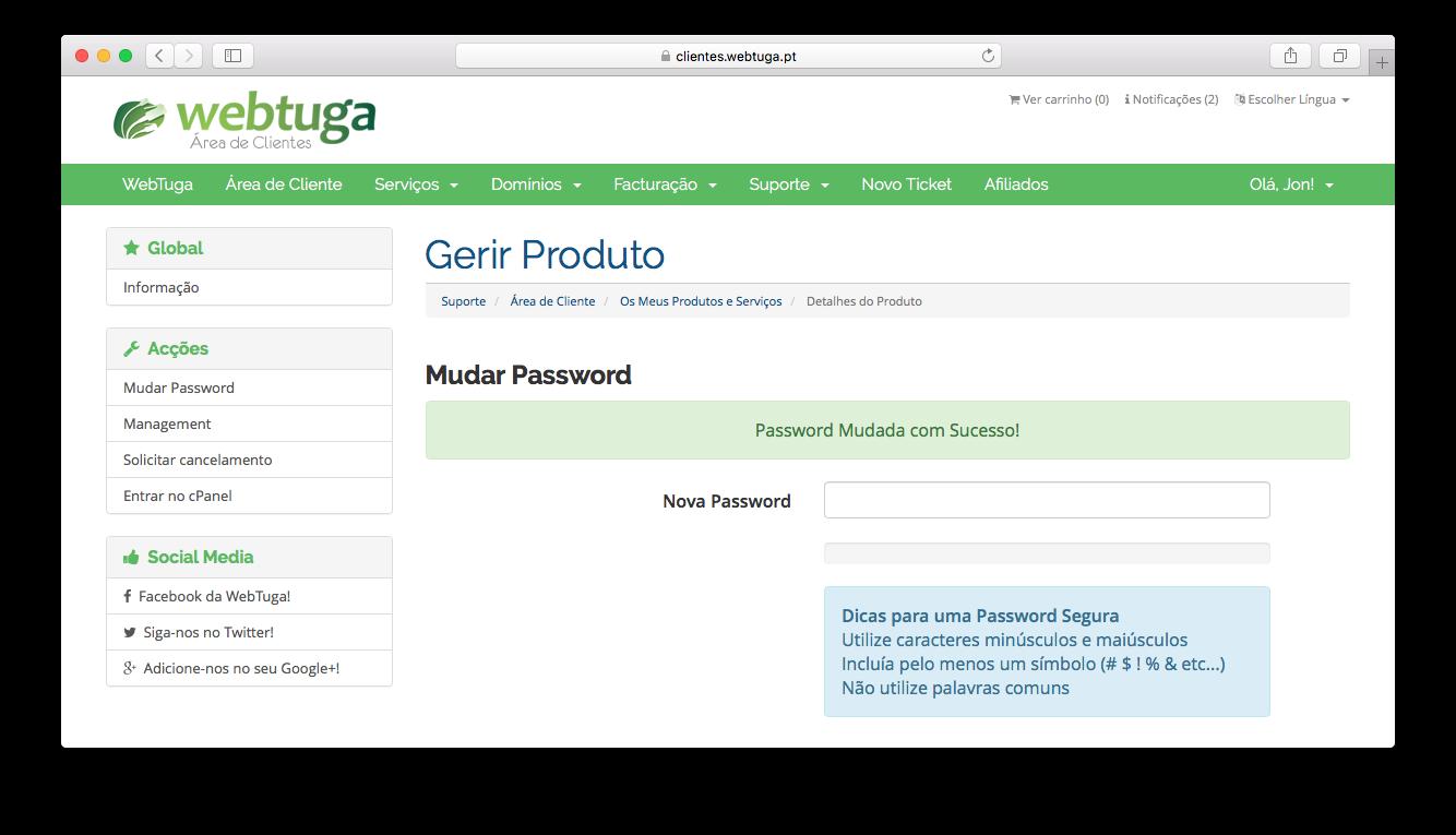 Check cPanel Password