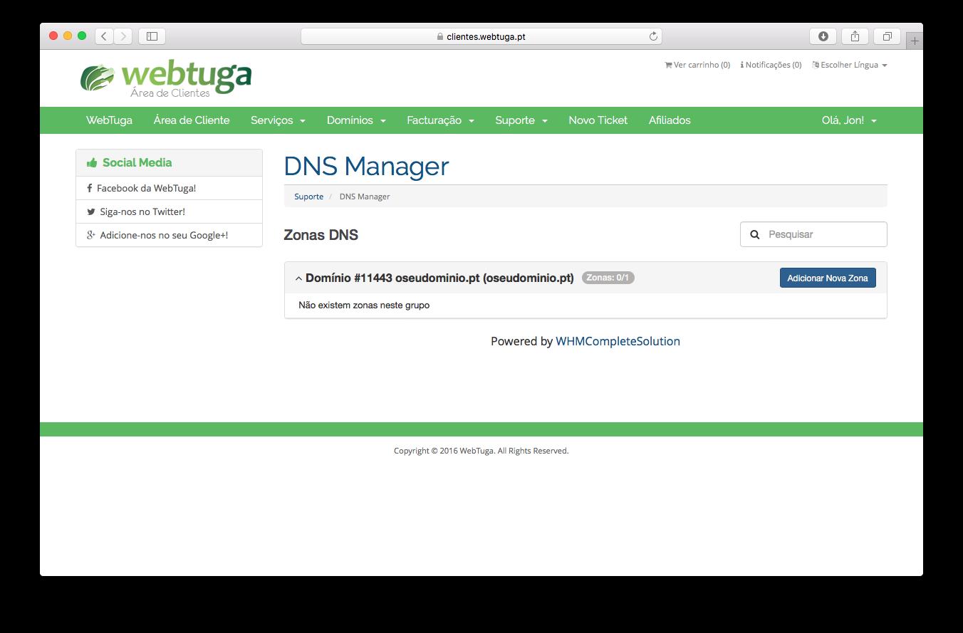 Gestão DNS